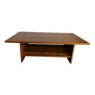 Modern Teak Built-in Book Display Coffee Table