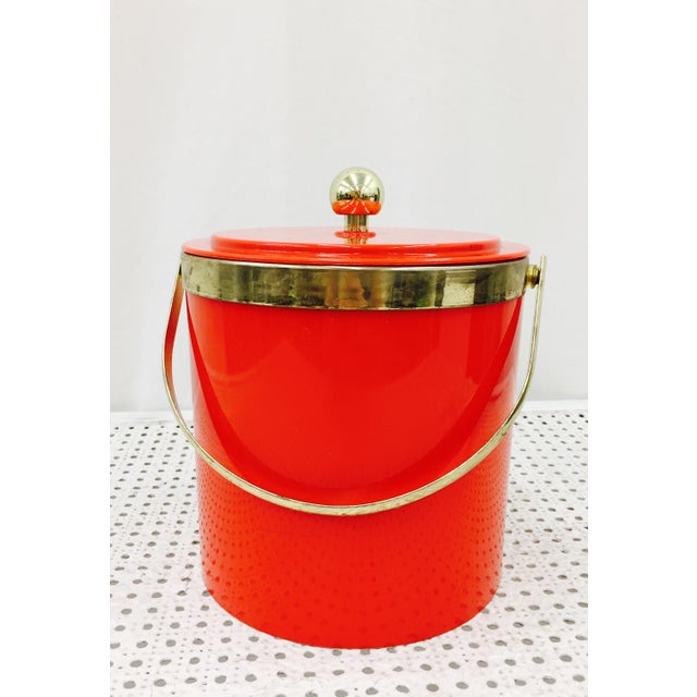Vintage Red & Gold Ice Bucket - Image 2 of 10