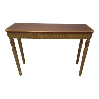 Therien Studio George III Style Mahogany Console Table