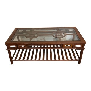 Rosewood Chinoiserie Style Coffee Table