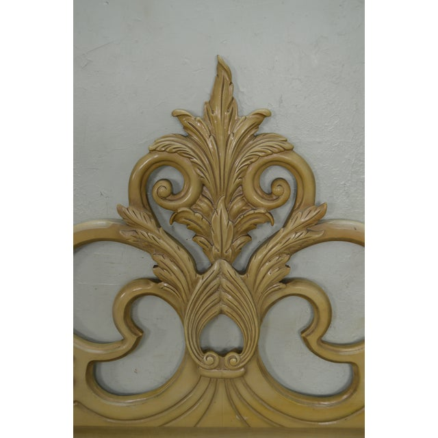 Vintage Queen Size Painted Rococo Style Headboard - Image 8 of 10