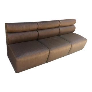 3 Piece Contemporary Taupe Banquet/Sofa