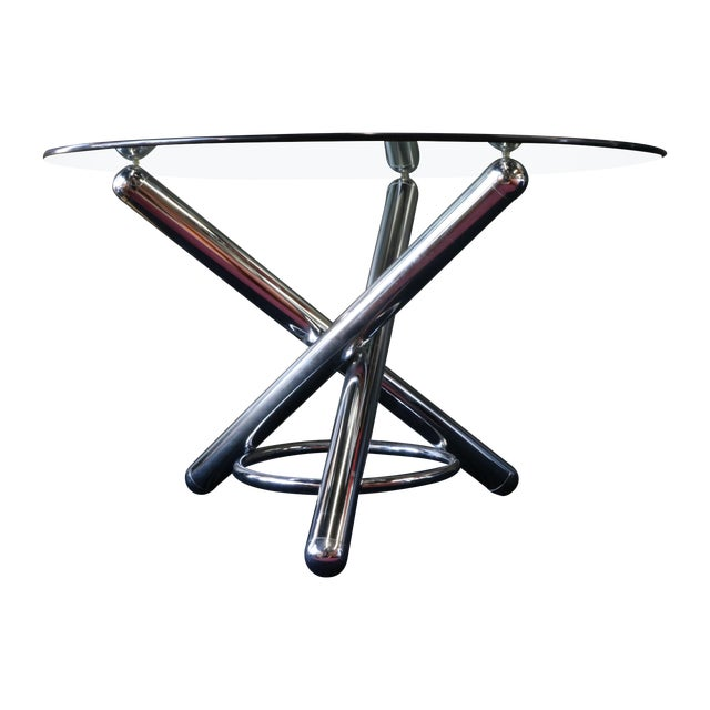 Chrome Tripod Dining Table - Image 1 of 6