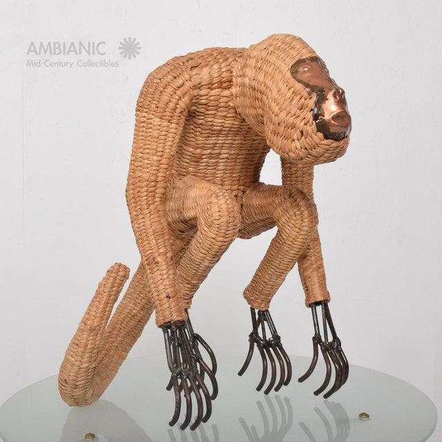 Mario Lopez Torres Wicker Monkey Sculpture - Image 9 of 10