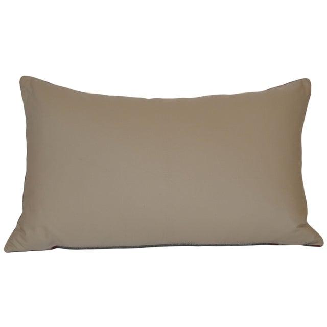 Uzbek Silk Velvet Ikat Pillow - Image 2 of 2