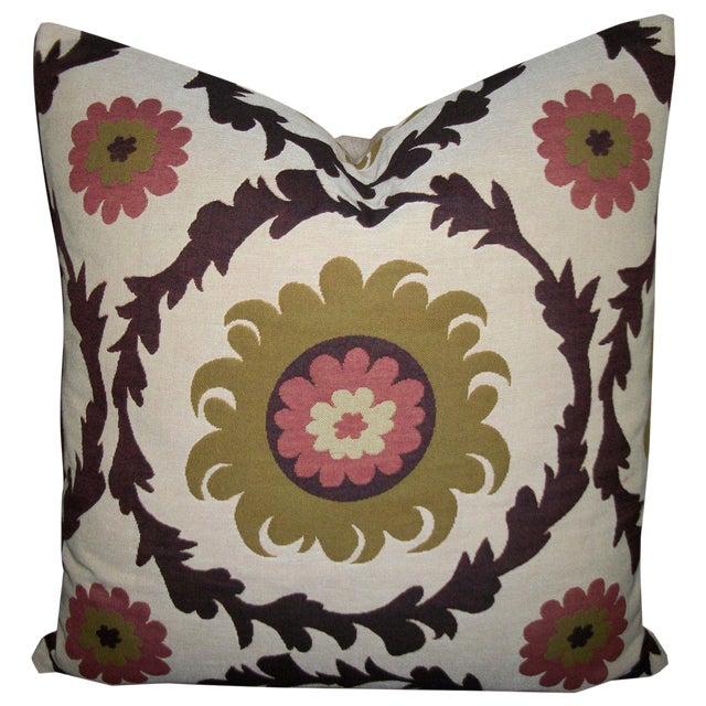 Quadrille Woven Designer Pillows - A Pair - Image 1 of 4