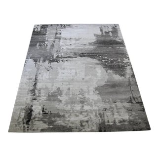 Contemporary Abstract Gray Rug - 4'x 5'8''