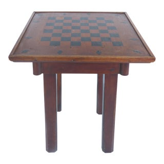 Rustic Checkerboard Table