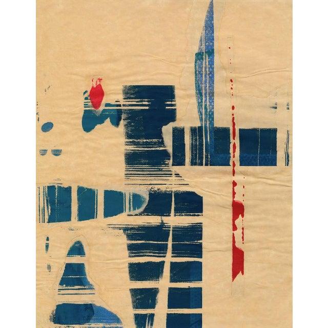 "Modern ""Red Meets Blue"" #8 Framed Print - Image 2 of 4"