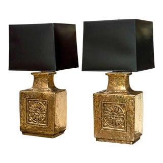 Ceramic European Lamps - A Pair