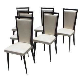 Circa 1940s French Art Deco Dining Chairs - Set of 6