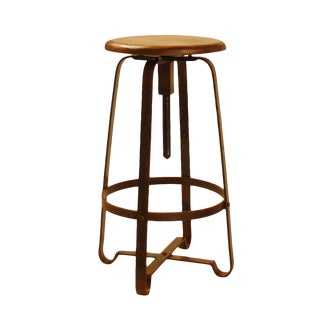 Wood & Industrial Iron Stool