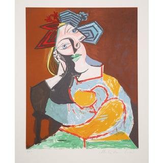 Pablo Picasso, Femme Au Drapeau, Lithograph