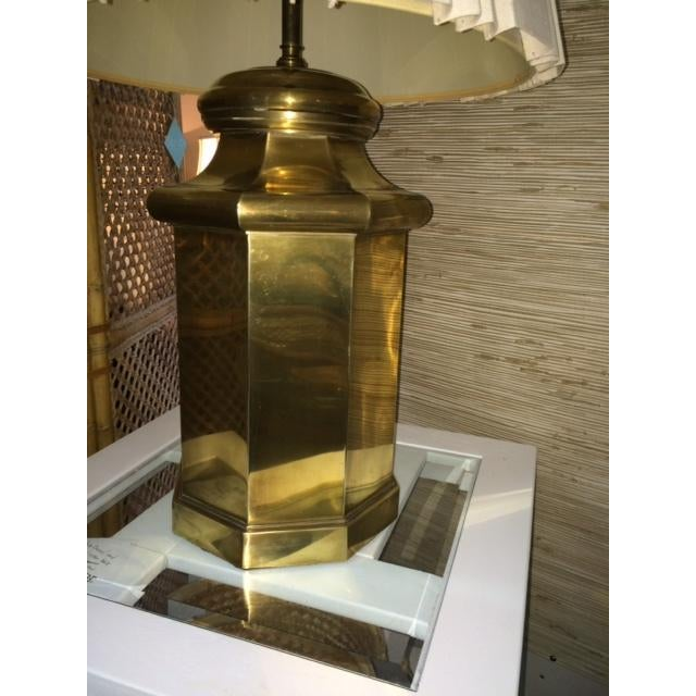 Vintage Large Brass Lamp - Image 4 of 5