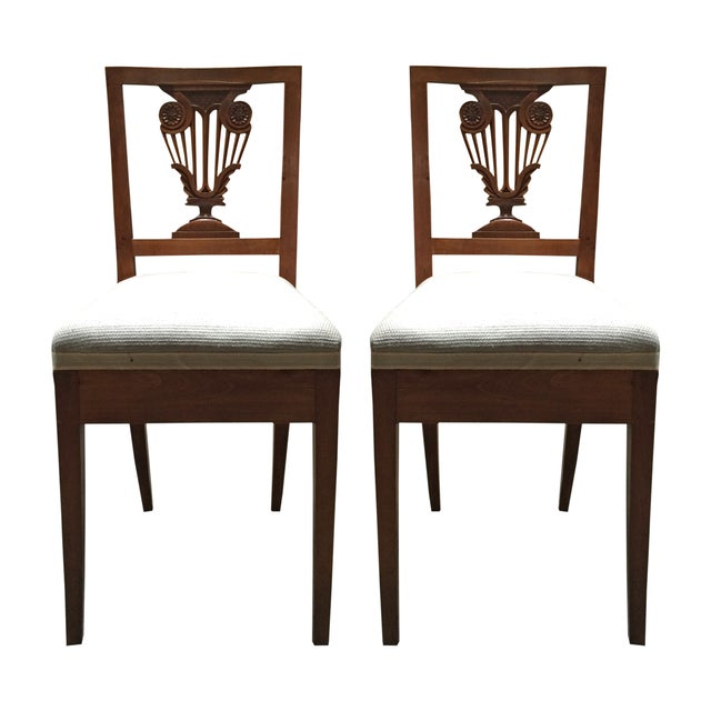 Vintage Diminutive Hepplewhite-Style Chairs - Pair - Image 1 of 6