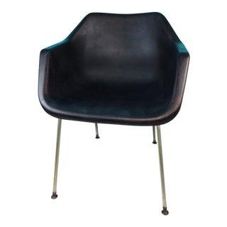 Vintage John Stuart Black Plastic Shell Chair