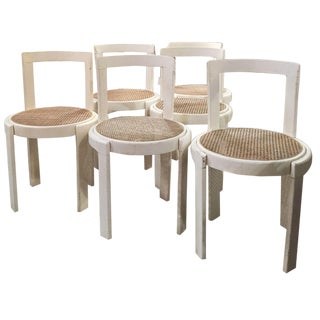Mid-Century Caned Chairs - Set Of 6