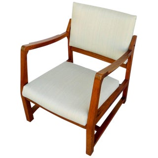 Edward Wormley for Dunbar Walnut Tilt Armchair