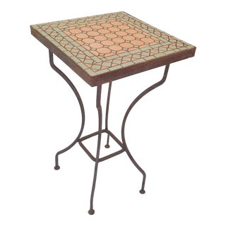 Turkish Wrought Iron Tiled Tall Plant Table