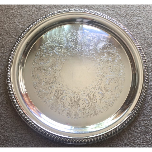 Classic Vintage Silver Trays & Silver Bowl - 3 - Image 5 of 6
