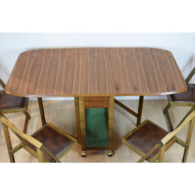 Mid-Century Danish Folding Dining Table & Chairs - Image 7 of 10