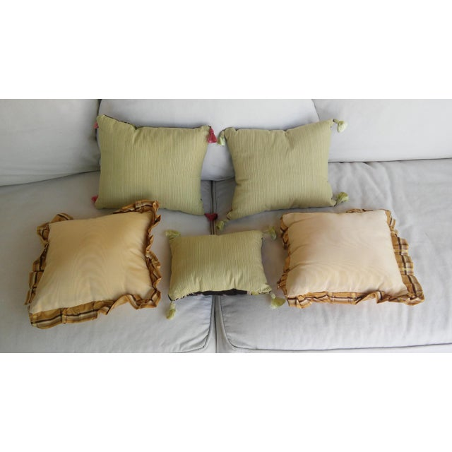 Luxe Leopards & Zebra With Taffeta Ruffled Pillows - Set of 5 - Image 4 of 9