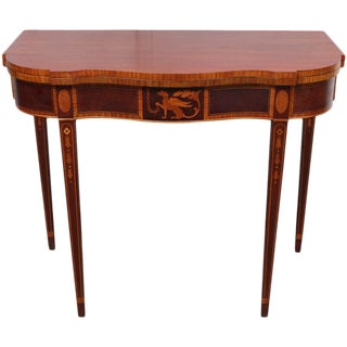 American Federal Style Mahogany Game Table