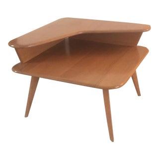 Vintage Heywood-Wakefield 2 Tier Corner Table