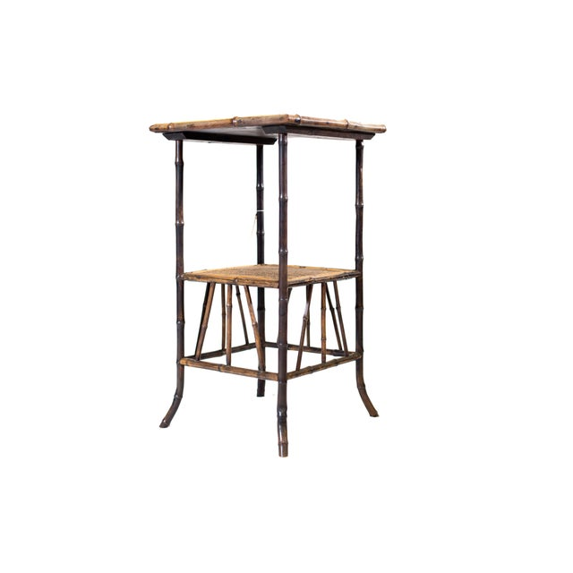 Bamboo End Table - Image 2 of 2