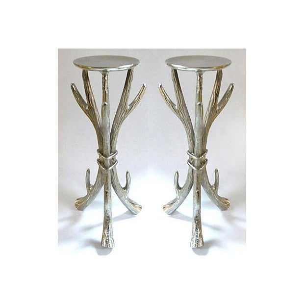 Antler Form Candle Holders - a Pair - Image 3 of 6