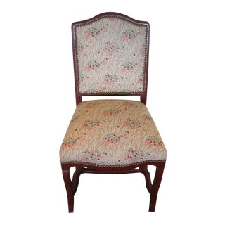 "Red Painted ""Prairie Berry"" Floral Upholstered Accent Chair"