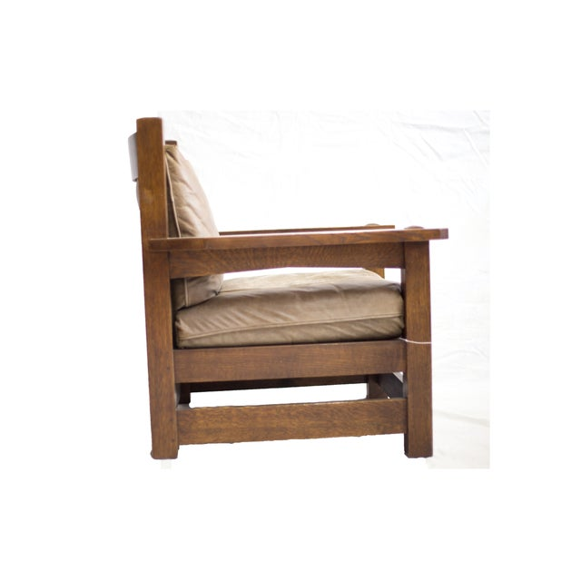 Stickley Co. Eastwood Chair And Ottoman - Image 5 of 10