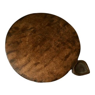 Vintage Indian Hand Carved Chapati or Chakla Board
