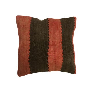 Red and Black Handmade Kilim Pillow Cover