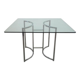 1970s Vintage Chrome & Glass Table