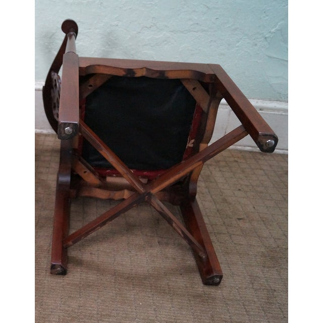 Quality Mahogany Chippendale Corner Arm Chair - Image 9 of 10