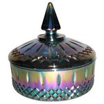 Image of Blue Carnival Glass Candy Dish
