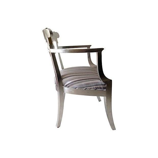 1950's Baker Silver Leaf Klismos Chair - Image 2 of 8