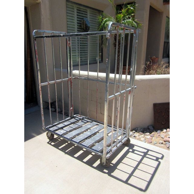 Industrial Rolling Freight Cart Garment Rack - Image 2 of 4