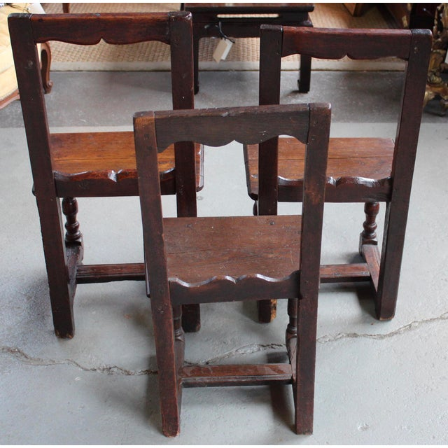 Antique Oak Nun's Chairs - Set of 3 - Image 4 of 10