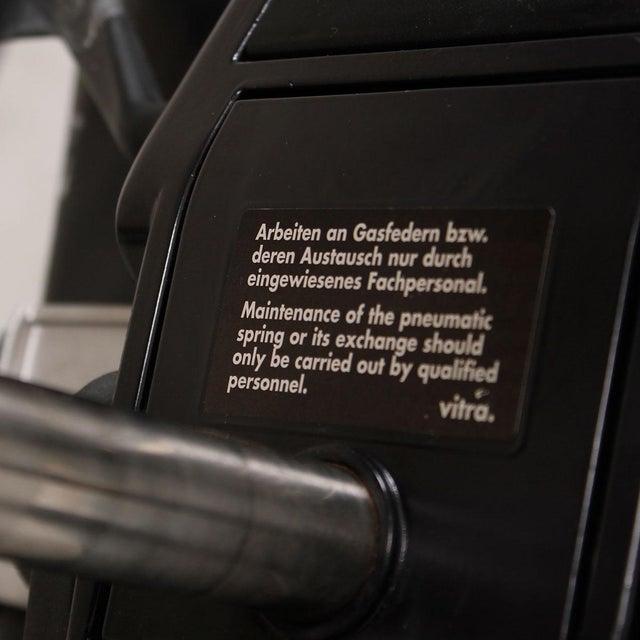 Vitra Italian Black Leather Swivel Desk Chair - Image 9 of 9
