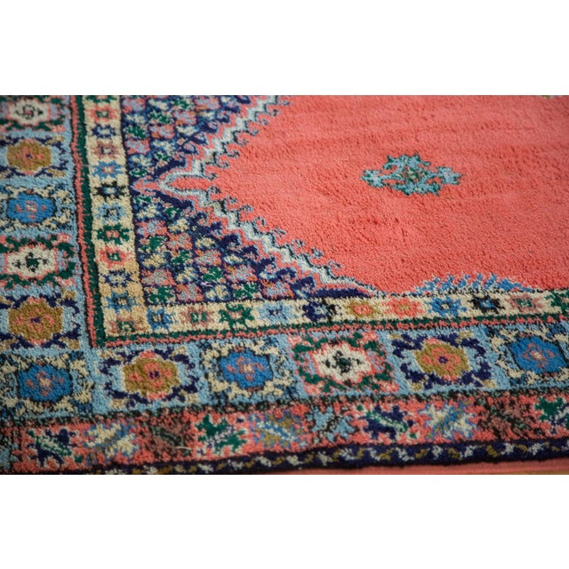 "Vintage Red & Blue Moroccan Rug - 6'8"" X 9'6"" - Image 8 of 9"