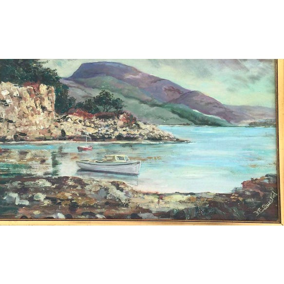 Vintage Cove Painting - Image 3 of 3