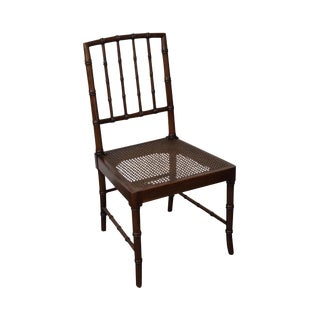 Faux Bamboo & Cane Seat Side Chair