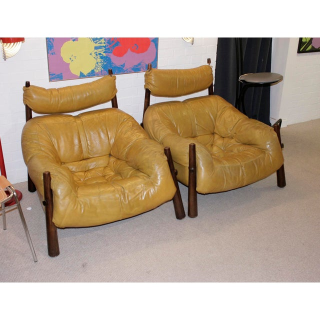 Percival Lafer Leather Armchairs - A Pair - Image 4 of 4
