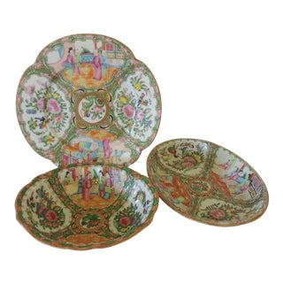 Rose Canton Serving Plates - Set of 3