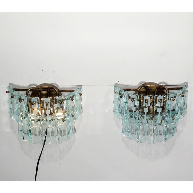 Mid-Century 3 Light Sconces - A Pair - Image 5 of 9