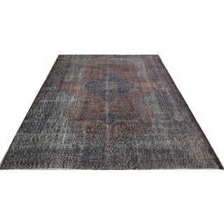 Vintage Overdyed Turkish Rug - 6′5″ × 9′8″