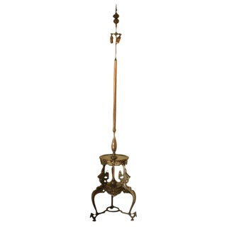 Japanese Bronze Floor Lamp