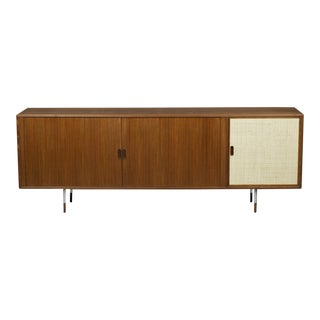 Arne Vodder Teak Sideboard with Tambour Door